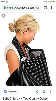 Bebe Chic Breastfeeding Cover Boned Polka Dots Carry Case 100% cotton UK made