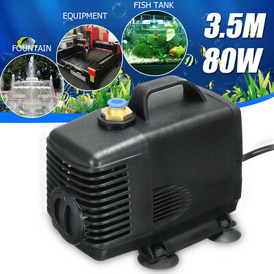3500L/H 3.5m 80W Engraving Machine Cooling Water Pump For CNC Spindle Motor