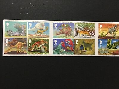 UK GB stamp booklet Illustrations. from 2002, sticker stamps.