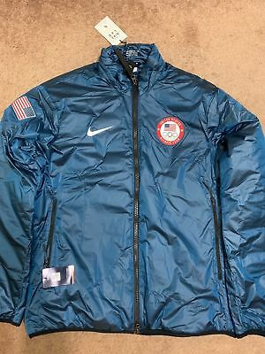 New Mens Nike Lab Team USA Winter Olympic Jacket 916645-474 Summit Blue S Small