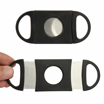 NEW!Cigar Cutter Stainless Steel Double Blades Guillotine Knife Pocket Scissors