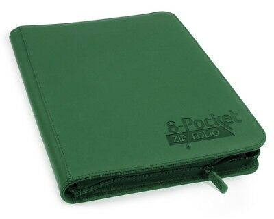 Ultimate Guard 8-Pocket ZipFolio XenoSkin Green Ultimate Guard