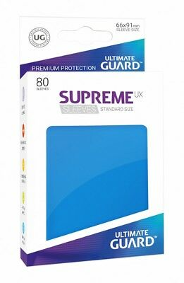 Ultimate Guard Supreme UX Sleeves Standard Size Royal Blue (80) Ultimate Guard