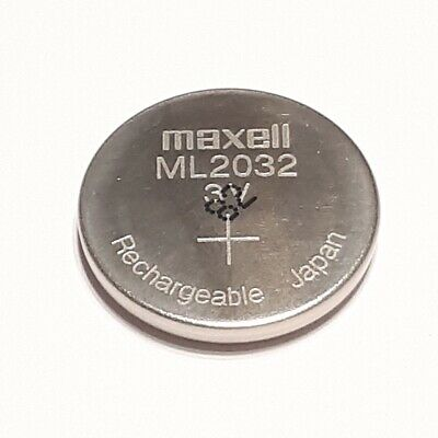 Maxell ML2032 Accu Batterie Rechargeable Lithium 3V P. Ex. Backups