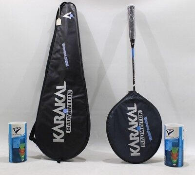 Karakal Badminton Rackets Sizes 2-4 and 9 Plus FREE tube of 3 shuttlecocks+Bag