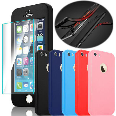 For Apple iPhone 5 5s SE Shockproof 360 Full Coverage Rugged Impact Case Cover