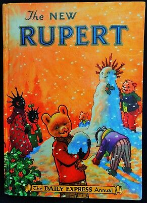 Vintage 1954 Rupert Bear Annual, Unscribed/unclipped 3/6, No Facsimlie This Year