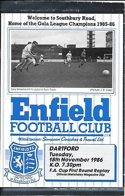 1986-87 Enfield v. Dartford (F A Cup 1st Round Replay)