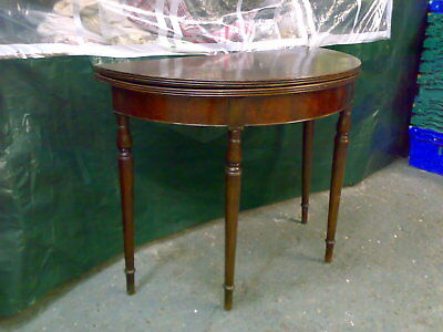 mahogany victorian demi lune fold out dining table