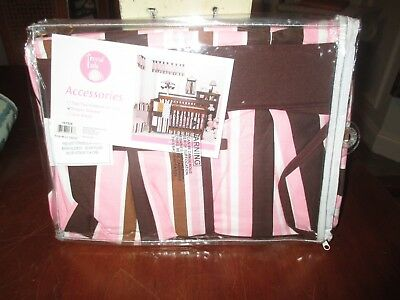 "TREND LAB ""NEW"" brown/pink/white stripes & polka dots MAYA diaper stacker"