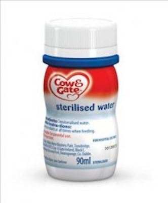 Cow & Gate Sterilised Water - Ready to Feed, 90ml, Box of 24 Bottles
