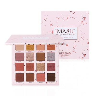 Imagic 16 Colors Eyeshadow Palette Eyes Shimmer Fashion Matte Makeup Eyesha H7A5