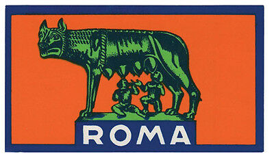 Rome  Roma   Italy    Vintage Looking  Sticker Travel Decal Luggage Label