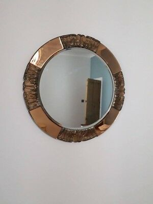 Gorgeous Genuine Antique 1920s Circular Art Deco Mirror
