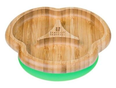 Bamboo Bamboo Suction Stay Put Feeding Plate, Green, Used, Toddler/Weaning