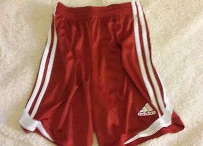 Adidas ClimaCool Shorts Youth Size S Red EUC