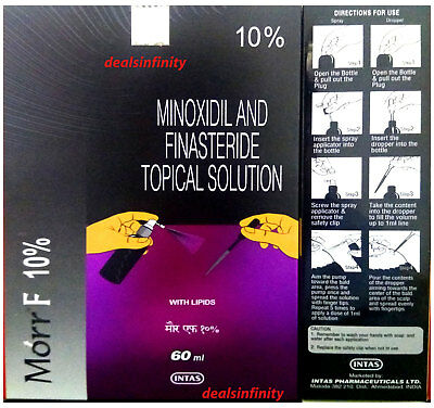 Morr F 10% Lipid Solution Hair Regrowth FDA Approved DHT Blocker 60 ML For Men