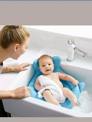 SKIP HOP Moby Softspot Baby Sink Bather baby bath infant tub support safety blue
