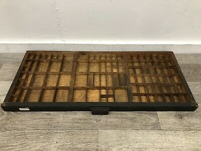 Antique Printers Tray Old Letterpress Drawer Display Rack Free P&P Architectural