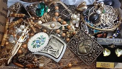#20 Vintage To Now Estate Find Jewelry Lot Junk Drawer Unsearched Untested Wear