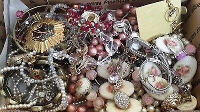 #21 Vintage To Now Estate Find Jewelry Lot Junk Drawer Unsearched Untested Wear