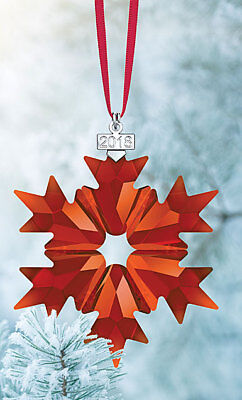 Swarovski Crystal, 2018 Annual Edition Christmas Ornament, Red