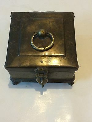Antique Old Islamic Original Beautiful Brass Kitchen Indian Spices Storage Box