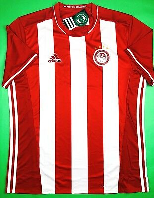 d0511ac27 NWT OLYMPIACOS FC 2016 17 L Home Soccer Jersey Football Shirt Greece Piraeus