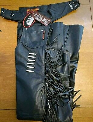 Woman's Hot Leather Chaps w/ Bone Accents  Size XL