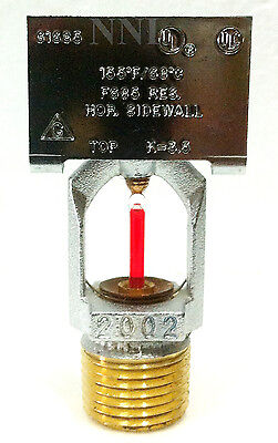 Residential Horizontal Sidewall Fire Sprinkler K=3.5, 155*F Chrome HQR Gem F685
