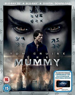 The Mummy (3D + 2D Blu-ray, 2 Discs, Tom Cruise, Region Free) *NEW/SEALED*