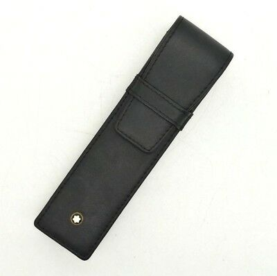 Authentic MONTBLANC Pen Case Meisterstuck 2 Pen Pouch - Black