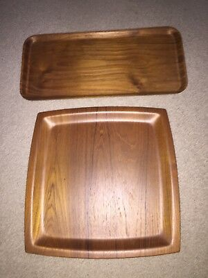 "Vintage SILVA Sweden Teak Serving Tray 14 1/4"" X 14 1/4"""
