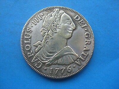 1776 Mexico Spain 8 reales coin Carolus 3rd Piece of Eight