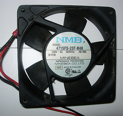 """220V fans Minebea,  NMB or SUNON  119mm Sq x 1"""" USED"""
