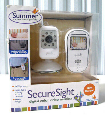Summer Infant Secure Sight Digital Color Video Baby Monitor 02040