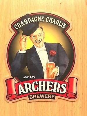 Champagne Charlie Movie Ale Beer Pump Clip Archers Brewery Swindon 2006