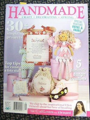 HANDMADE MAGAZINE Vol30 #7 OOP kitfchen faith stitcheries Fetes baby toys apple