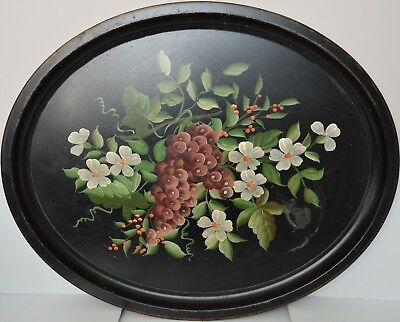 Vintage Antique Hand Painted By Pilgrim for McCurdy's Large Tin Tray