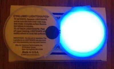 20 x Round Blue Cyalume Chemlight Emergency Lighting Adhere To Most Surfaces
