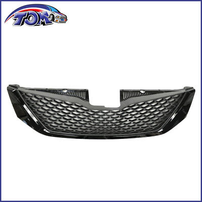 Honeycomb Black Front Bumper Upper Grille Assembly For Toyota Sienna 2011-2017