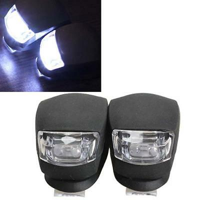 2x LED Bicycle Bike Cycling Silicone Head Front Rear Wheel Safety Light Lamp US