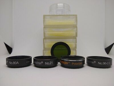 """Set Of 5 Celestron Filters And A Moon Filter, All 1.25"""""""