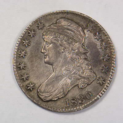 1830 50c CAPPED BUST HALF DOLLAR - LETTERED EDGE - LOT#H143