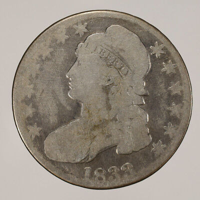 1833 50c CAPPED BUST HALF DOLLAR - LETTERED EDGE - LOT#H082