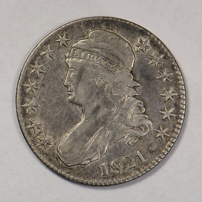 1821 50c CAPPED BUST HALF DOLLAR - LETTERED EDGE - LOT#H126