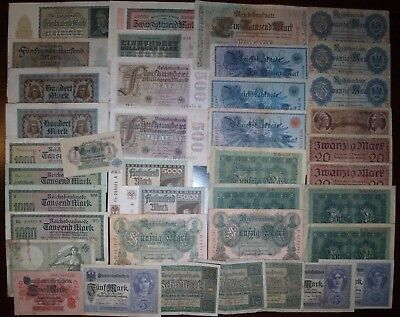 LOT OF 39 Germany banknotes