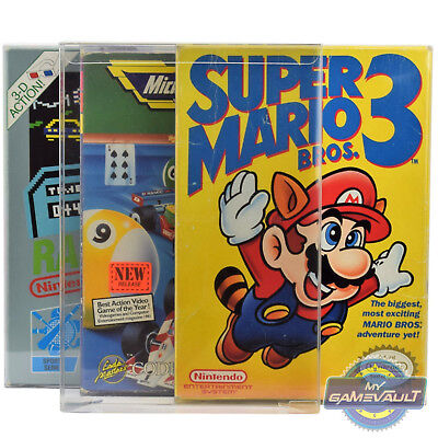 10 x NES Game Box Protectors for Nintendo 0.4mm Protective PLASTIC DISPLAY CASE