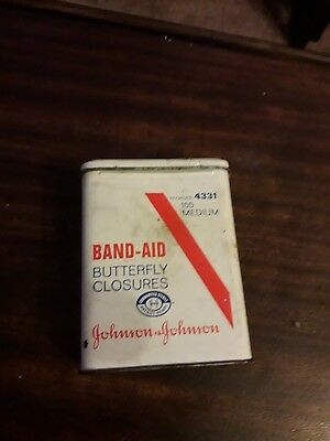 Vintage Johnson&johnson Band-aid Butterfly Closures Tin