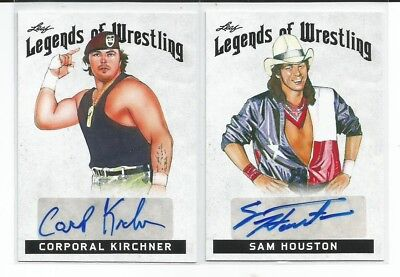 SAM HOUSTON  2018 Leaf Legends Of Wrestling  Authentic AUTOGRAPH
